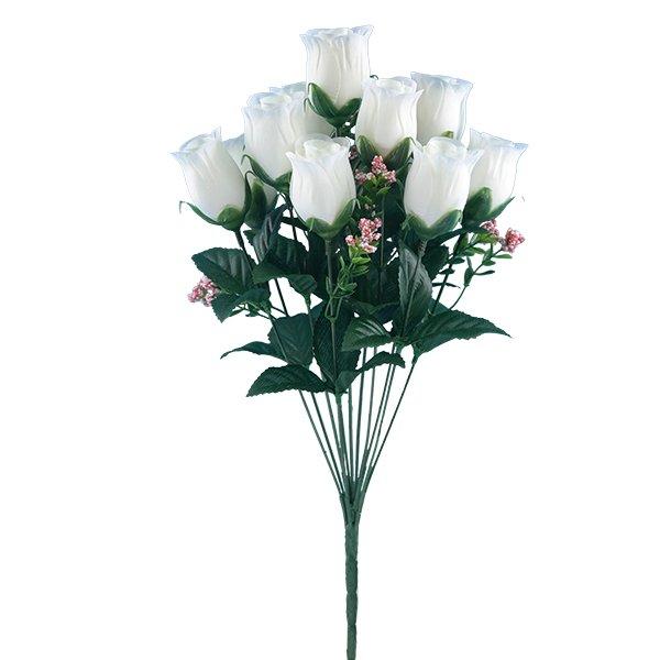 White-Rose-Bud-Artificial-Flower-Bush