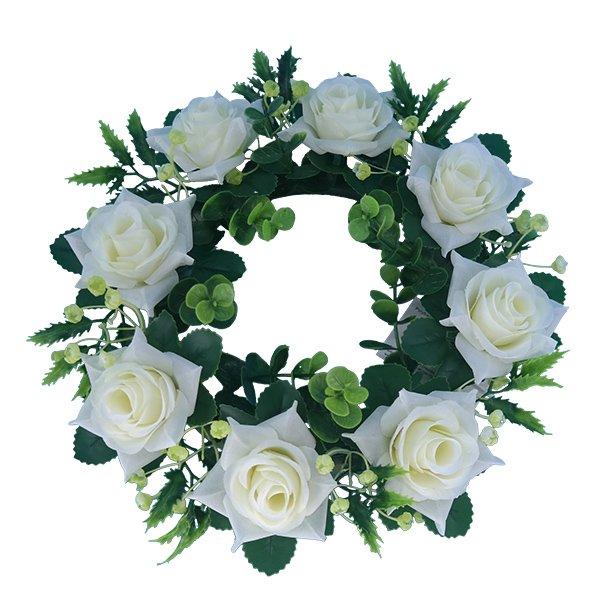 _Silk-Flowers-Wholesale-Artificial-Rose-Wreath
