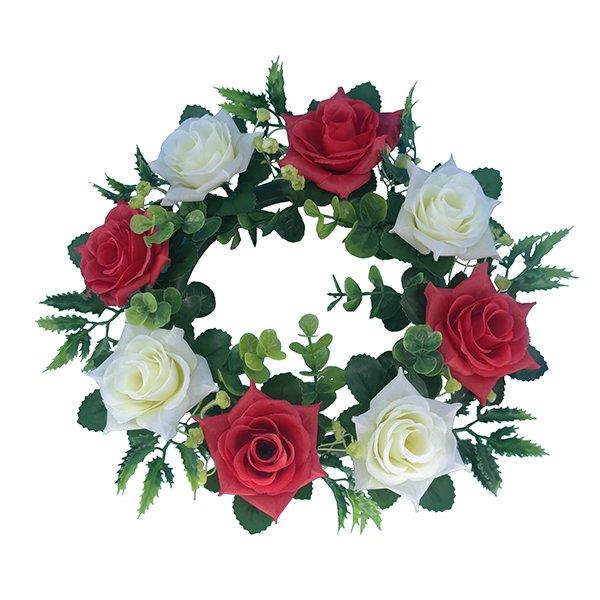 Silk-Flowers-Wholesale-Artificial-Rose-Wreath