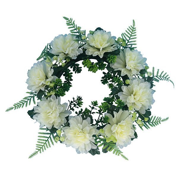 yellow_Wholesale-Real-Touch-Flowers-Mum-Flower-Wreath