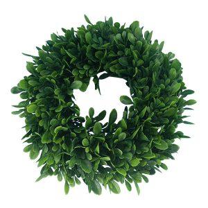 Green-Boxwood-Leaf-Wreath